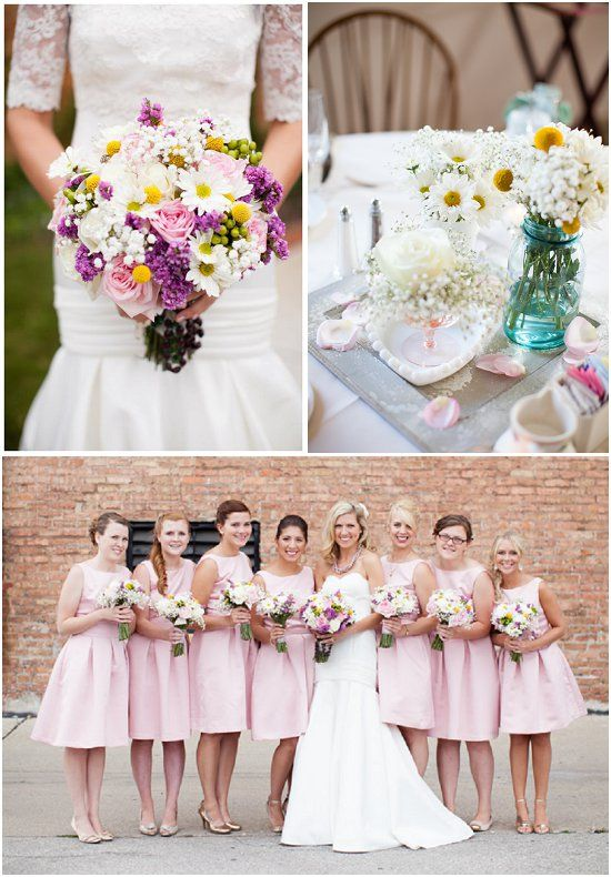 The beautiful flowers provided by DMH Custom Floral Designs. Click to learn more about this $26,000 Milwaukee Wedding