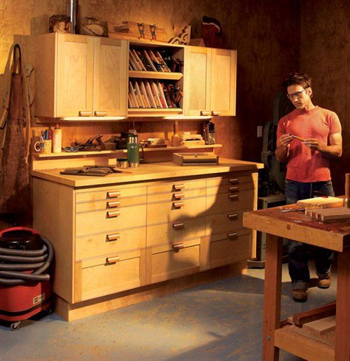 Modular shop cabinets woodworking storage pinterest for American woodcraft kitchen cabinets