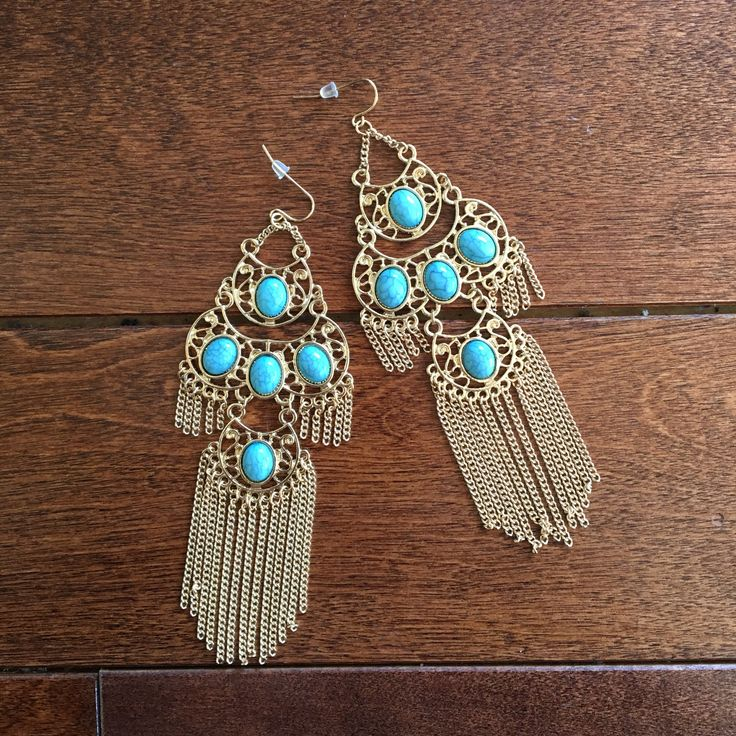 Vintage earrings from Santorini, Greece.