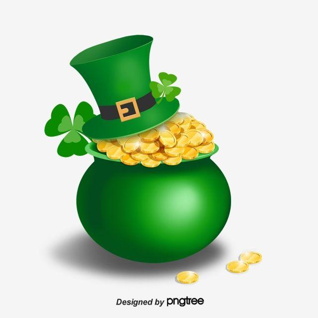 Clover St Patricks Day Plane Leaf Formal Hat Green Hat Green Jar Festival Gold Coin Yellow St Saint Patricks Day Art St Patricks Day Wallpaper St Patricks Day