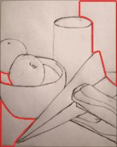 Croquis-Use-Negativo-Espacio-Rojo   Techniques and tips to Improve your Drawing Skills
