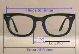 Fitting and measuring vintage glasses