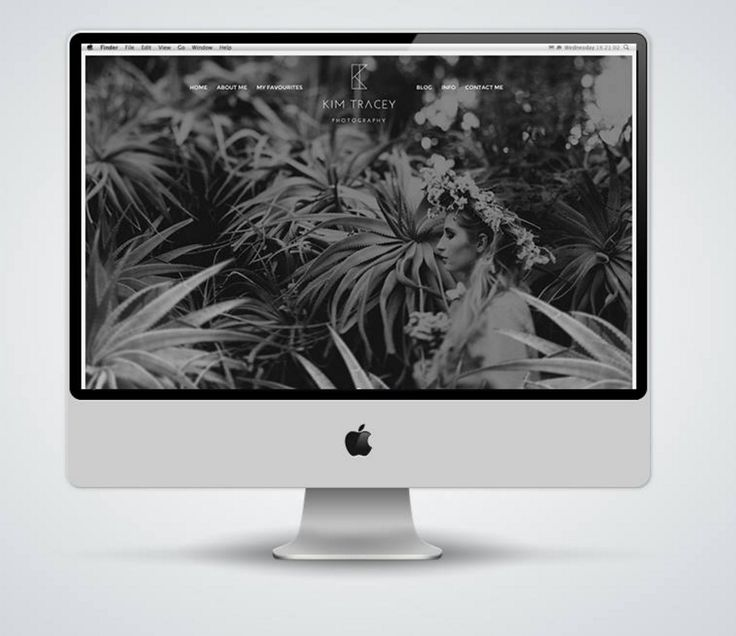 """http://www.newnormal.co.za/work/kim-tracey-photography/ """"The website was designed to draw a user's focus to Kim's artistic flair, evident in her photography, that is amplified in the design, while communicating her passion for wedding photography"""""""
