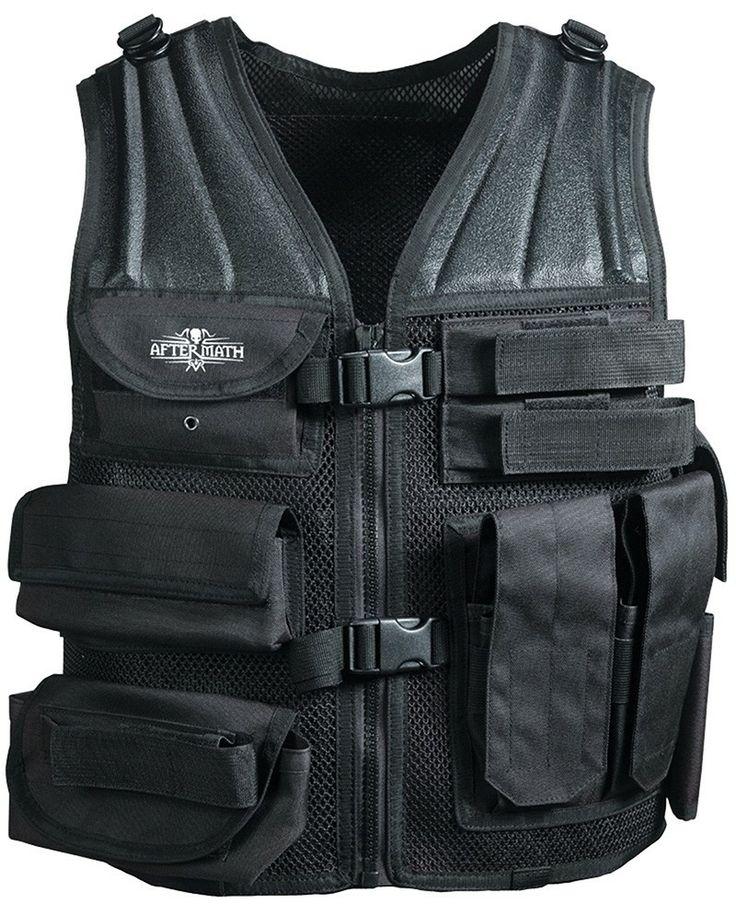 Gilet très bien fait.Avec poches pour chargeurs de répliques longues et PA (Pistolet Automatique) pochette zippée, et pochette scratch  Gilet tactique Airsoft Aftermath - 53,90 €