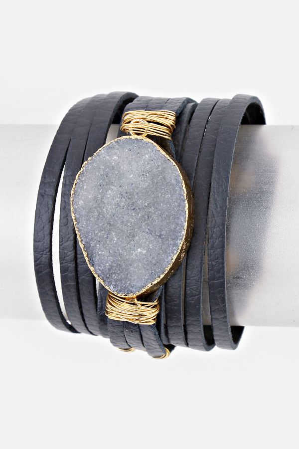 Leather Kai Bracelet in London Quartz