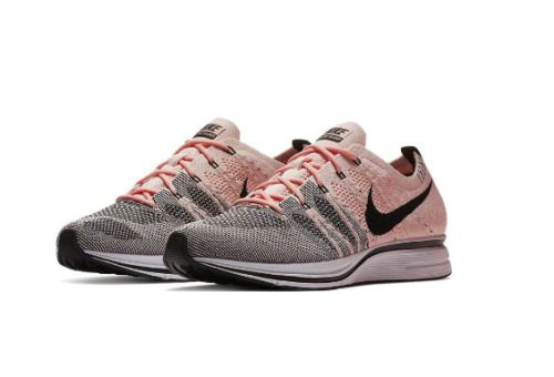 f7817b192707c Nike Flyknit Trainer Mens Running Shoes Sunset Tint Black White  Nike   RunningShoes
