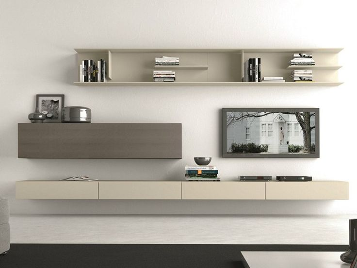 Sectional wall-mounted TV wall system #283 - Presotto Industrie Mobili