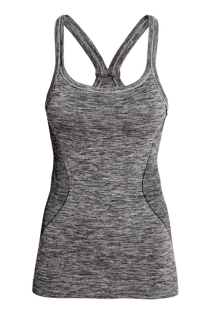 Seamless yoga top with a bra   H&M