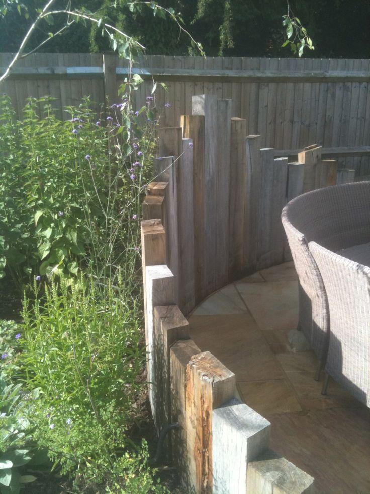 35 best images about fence on pinterest sleeper wall for Garden windbreak designs