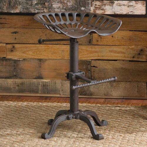 Vintage Style Tractor Seat/Bar Stool  Rustic Cast Iron Industrial Shabby chic
