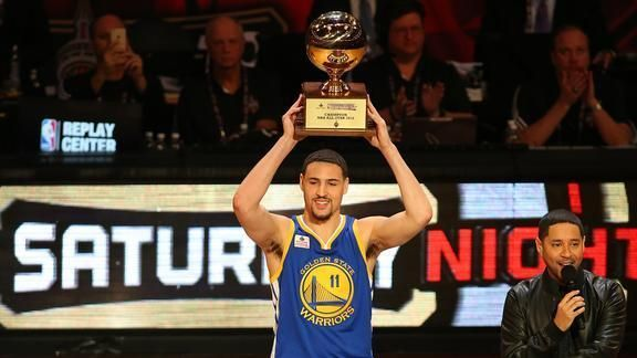 All-Star Weekend Flashback: Klay Thompson Wins 2016 Three-Point Contest