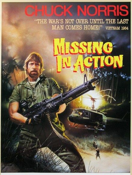 Missing in Action (1984) Chuck Norris Pinterest - missing in action poster