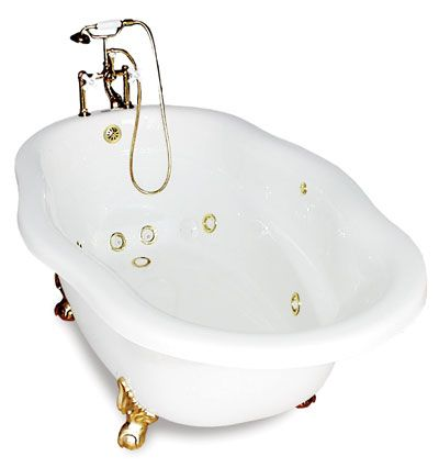 whirlpool clawfoot tub...I might start taking baths (instead of showers) if I had this!