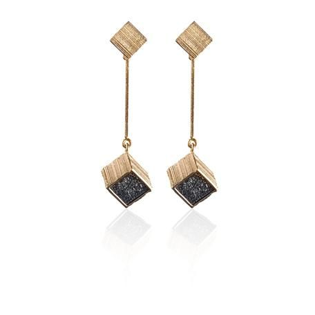 CUBUS Design: Björn Weckström / Gold Earrings / Lapponia Jewelry / Handmade in Helsinki