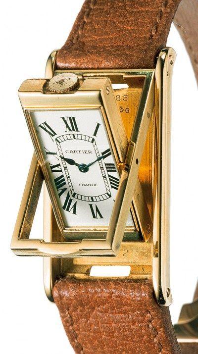 Cartier Tank Basculante 1932 Gold Watch