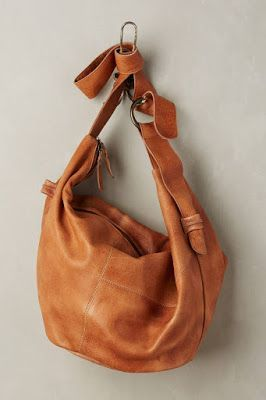 Tan leather slouch bag #kimbalikes