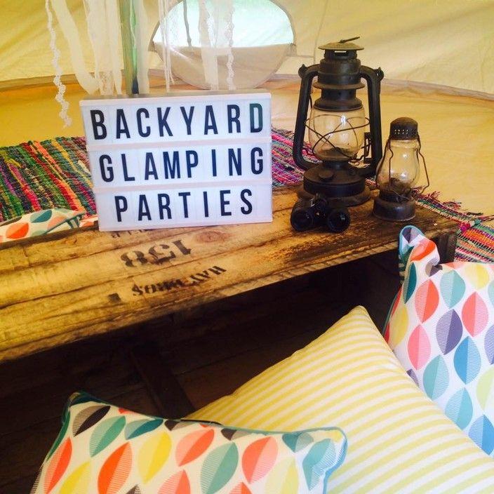 Backyard Glamping Parties - Complete set up in your very on Backyard. - Backyard Glamping Parties / Bell Tent Parties, PartySupplies, Brunswick East, VIC, 3057 - TrueLocal #glampingparties #slumberparties