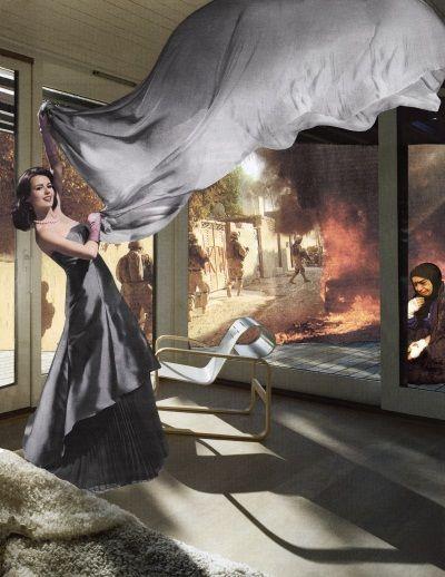 Martha Rosler, Gray Drape, 2008