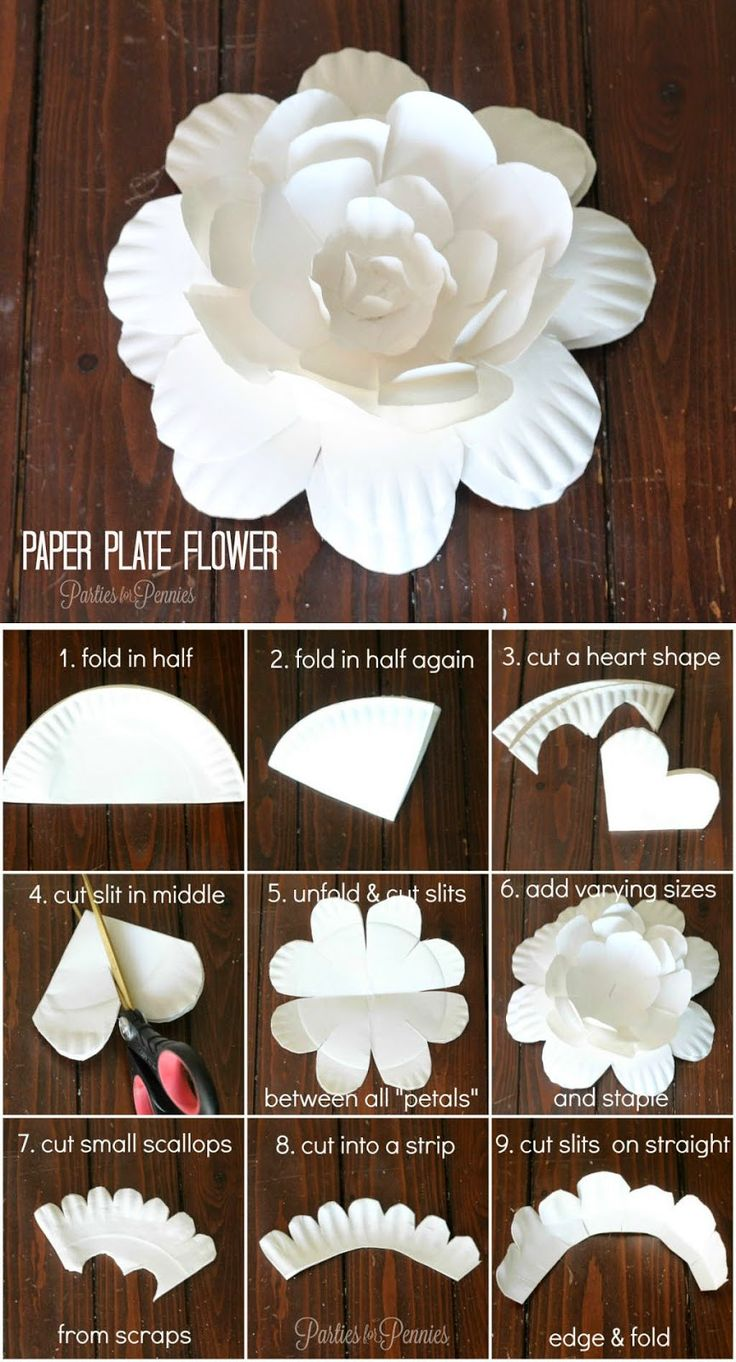 Small paper flowers craft - Abcdiy 18 Different And Useful Paper Plate Diy For Kids