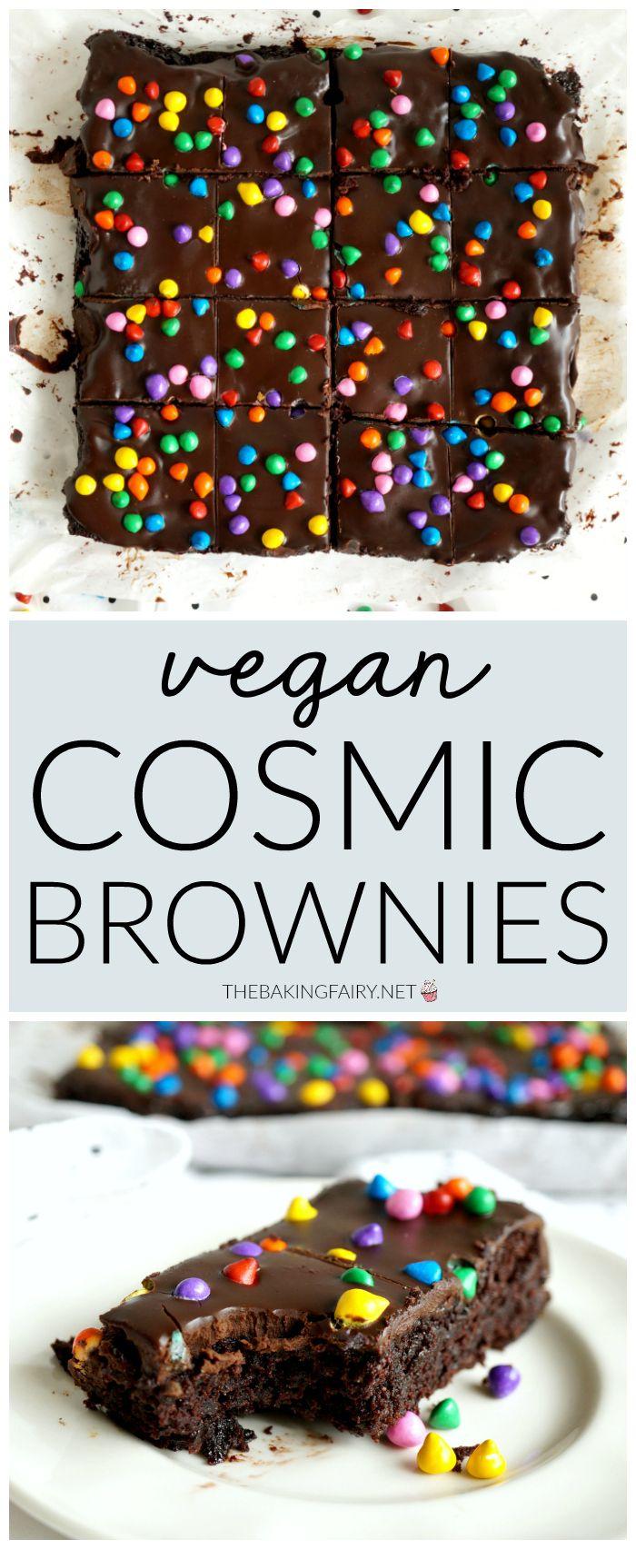 Vegan homemade cosmic brownies