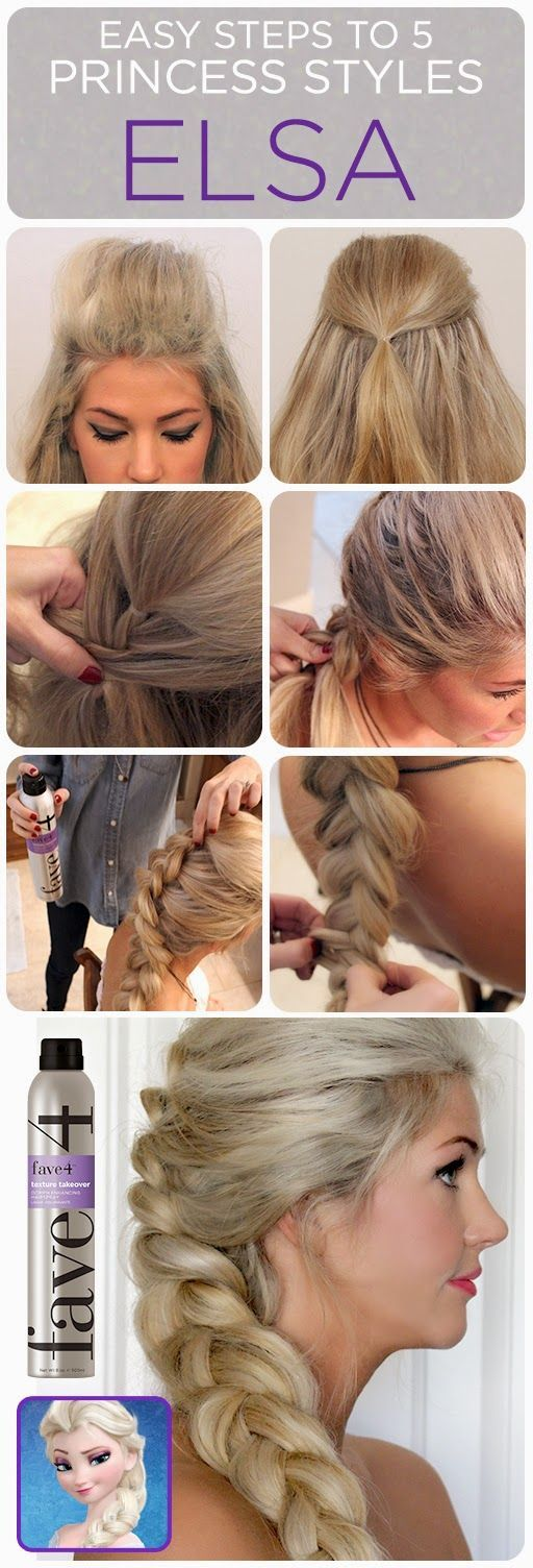 elsa inspired look. Easy Braids for Prom