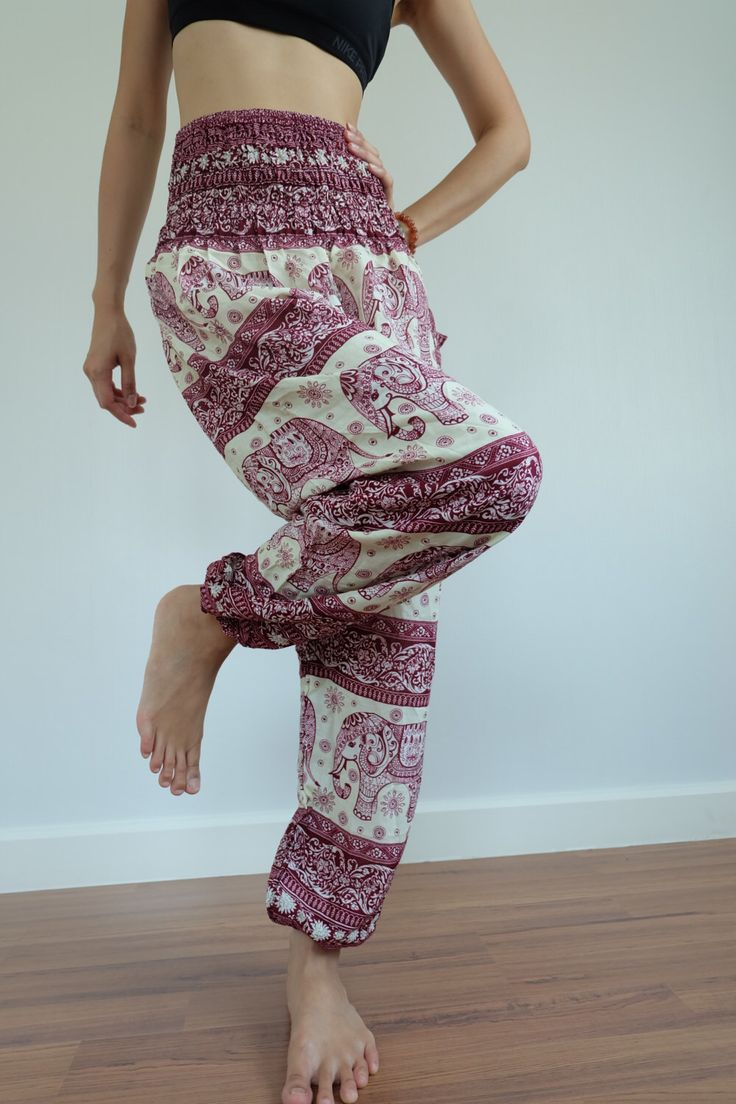 Thai Elephant pants Gypsy Pants Rayon Pants,Aladdin Pants Maxi Pants Boho Pants by IndycraftsDesigns on Etsy https://www.etsy.com/listing/397902347/thai-elephant-pants-gypsy-pants-rayon