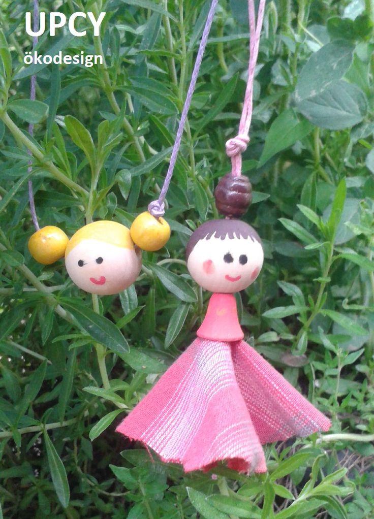 fagolyó baba útmutató - DIY tutorial wood bead doll