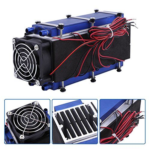Mini Air Conditioner,DC 12V 576W 8-Chip TEC1-12706 DIY Thermoelectric Cooler Air Cooling Device. For product & price info go to:  https://all4hiking.com/products/mini-air-conditionerdc-12v-576w-8-chip-tec1-12706-diy-thermoelectric-cooler-air-cooling-device/