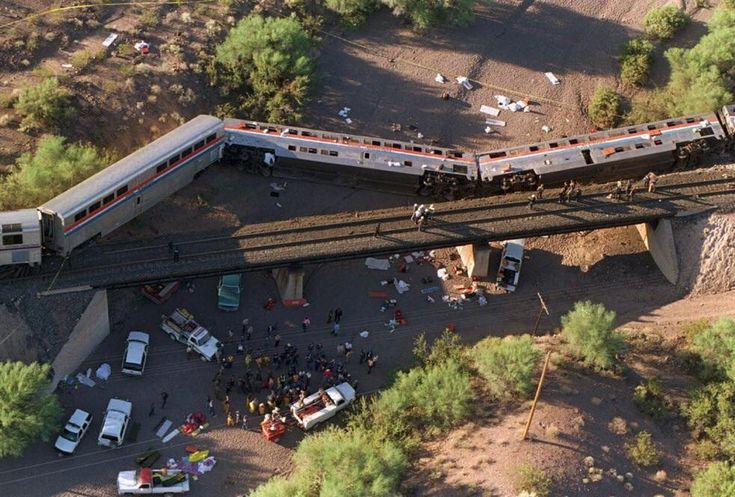 October 9th 1995 unidentified saboteurs known only as Sons of Gestapo derailed an Amtrak train in Arizona in revenge for the Waco siege. They remain at-large and the FBI has a $310000 reward out for any information leading to their capture. [982x664]