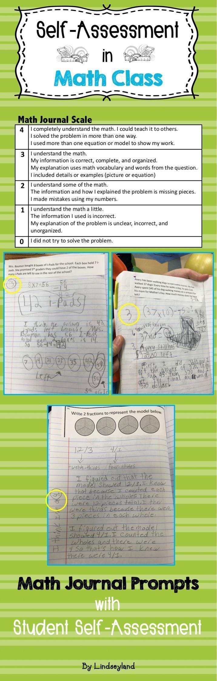 best ideas about self assessment student self problem solving journal prompts bundle