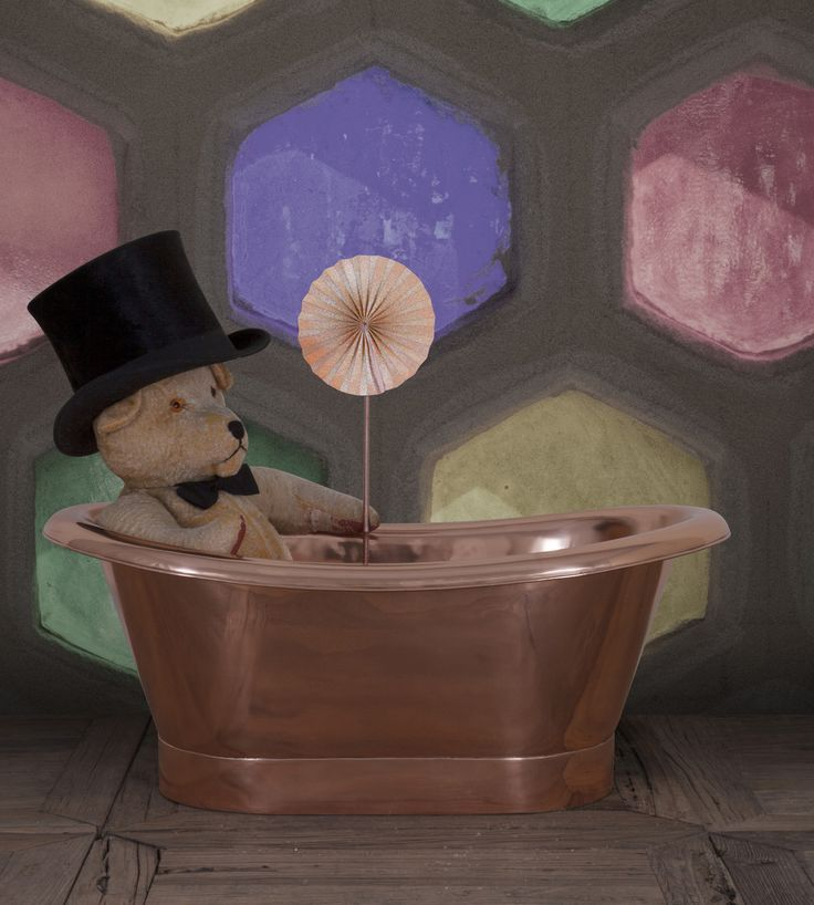 Our delightful and playful Copper Children's bath: The Bambino! #Copper #Bath #Kids #Children #Small #Petite #Cute