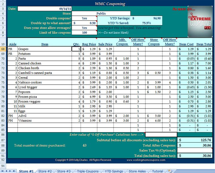 coupon spreadsheet template | Email This BlogThis! Share to Twitter Share to Facebook Share to ...