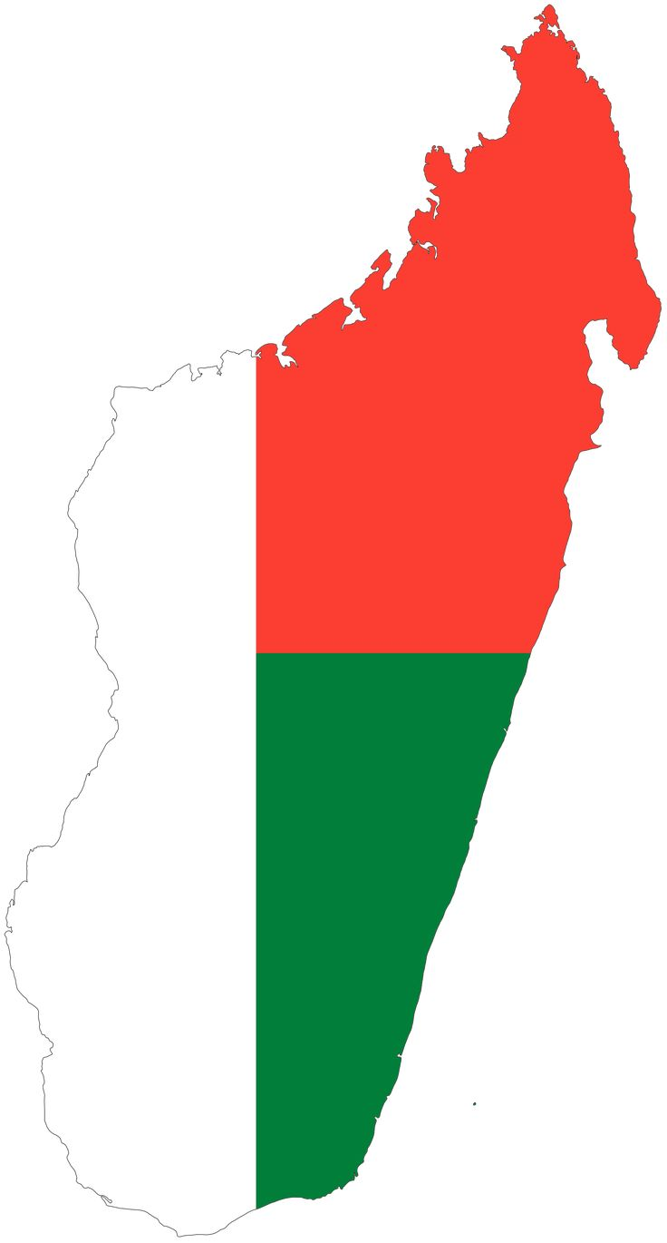 Madagascar Flag Map