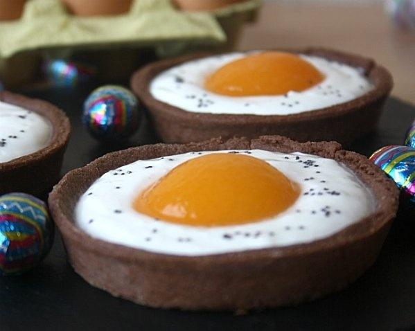 Oeufs au plat ? Et non, ce sont des tartelettes aux abricots! Une bonne idée pour un goûter d'anniversaire.