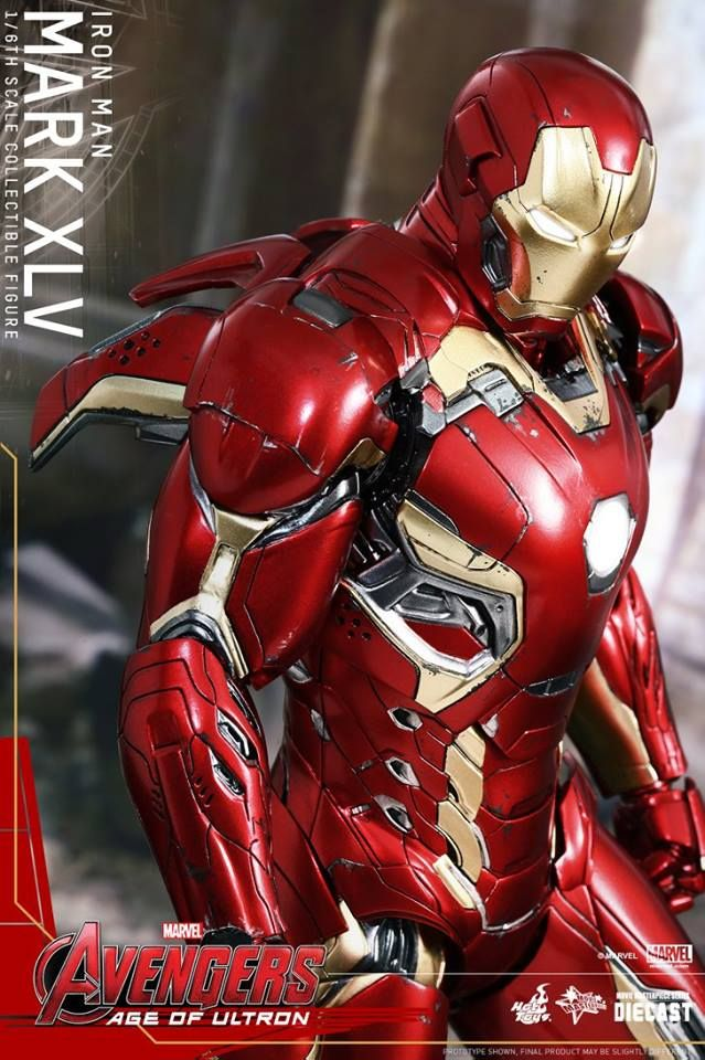 Hot Toys Avengers: AGE OF ULTRON Iron Man Mark XLV Action Figure http://tyrant.click/1Gym77d