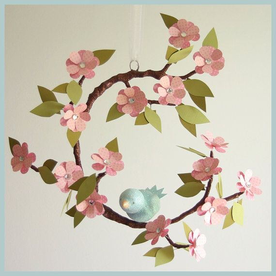 Tree Limb and Bird Mobile $120 @ http://www.etsy.com/listing/74794491/tree-limb-and-bird-mobile