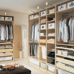 The standard system comes with the brackets, shelves, hangers, and rods that you need to install to set up the closet of your dreams. A place where every item has a homeand you can find it easily.
