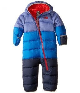 The North Face Kids Lil' Snuggler Down Suit (Infant) (Honor Blue Heather) Kid's Snow Bibs One Piece