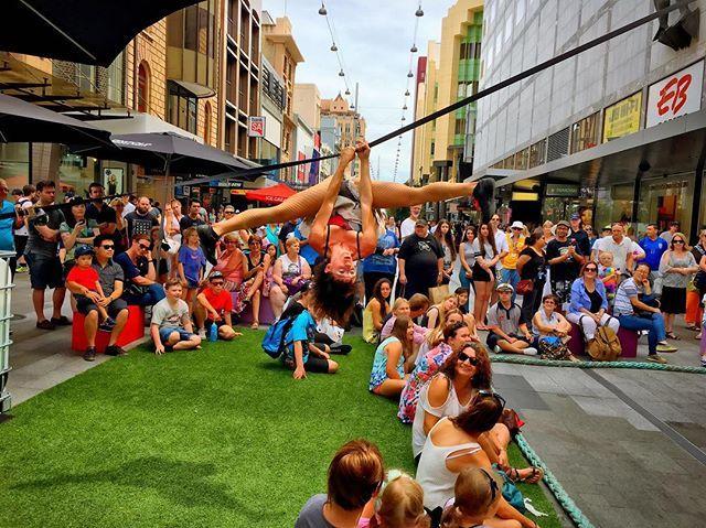 Mano a mano street performers.  . #busker #busking #gardenofunearthlydelights #theoctagon #thepeacock #adlfringe #fringefestival #fringe #wanderlust #wander #circus #theatre #music #visualart #design #physicaltheatre #cabaret #adelaide #glamadelaide #southaustralia #adelaidefringe #BankSAEyeWitness #rundlestreet #streetperformer #streetartistry #photography #streettheatrefestival