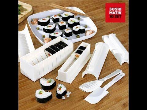 Stampi Sushi Matik 10 Pezzi Macchina per Involtini - YouTube