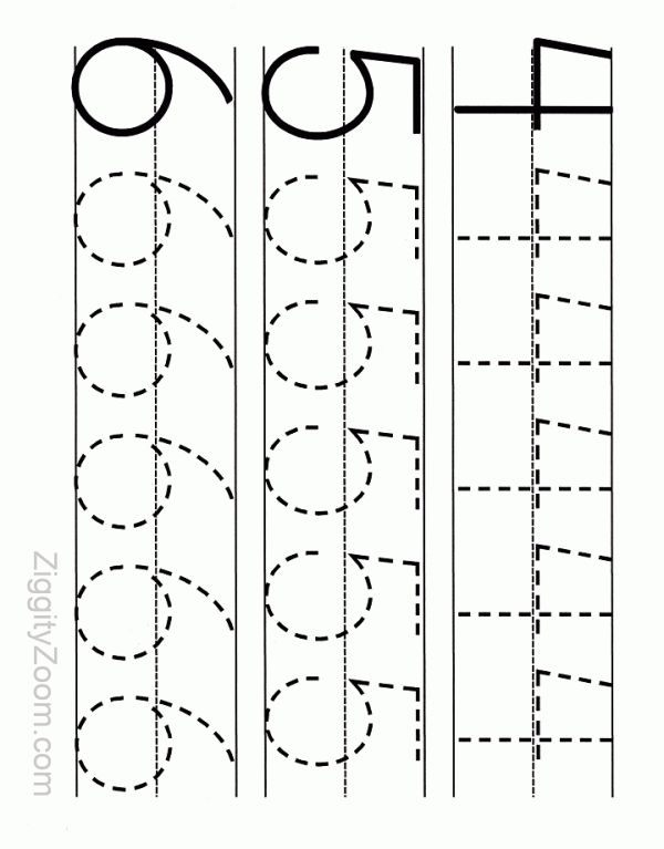 Worksheets Number Tracing Worksheets 25 best ideas about number tracing on pinterest worksheet 4 6 ziggity zoom