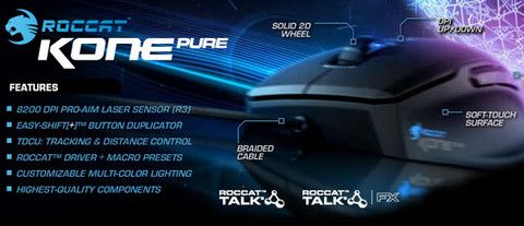 Roccat Kone Pure - Core Perf Gaming Mouse   Dynacor IT & Gaming Solutions