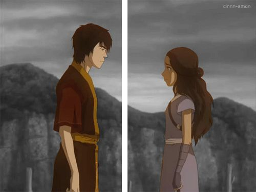 Not that I'm against how things turned out but.. sorry aang, zuko and katara have much more chemistry