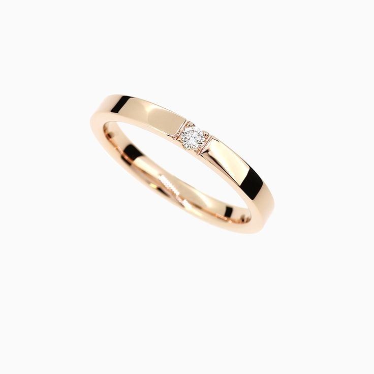 Caress Ring with Diamond in Rose Gold