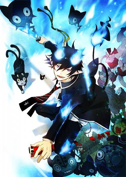 """Blue Exorcist ~~ """"Human clothed in God-flame"""" Rin"""