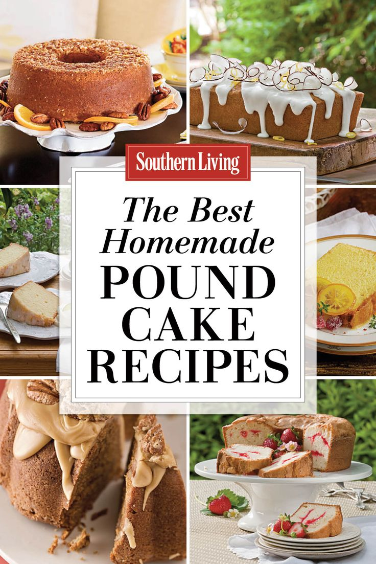 Homemade Pound Cake Recipes | Nothing beats the rich, buttery flavor of a homemade pound cake recipe. Try our classic pound cake or more flavorful versions with fruits, spices, and nuts.