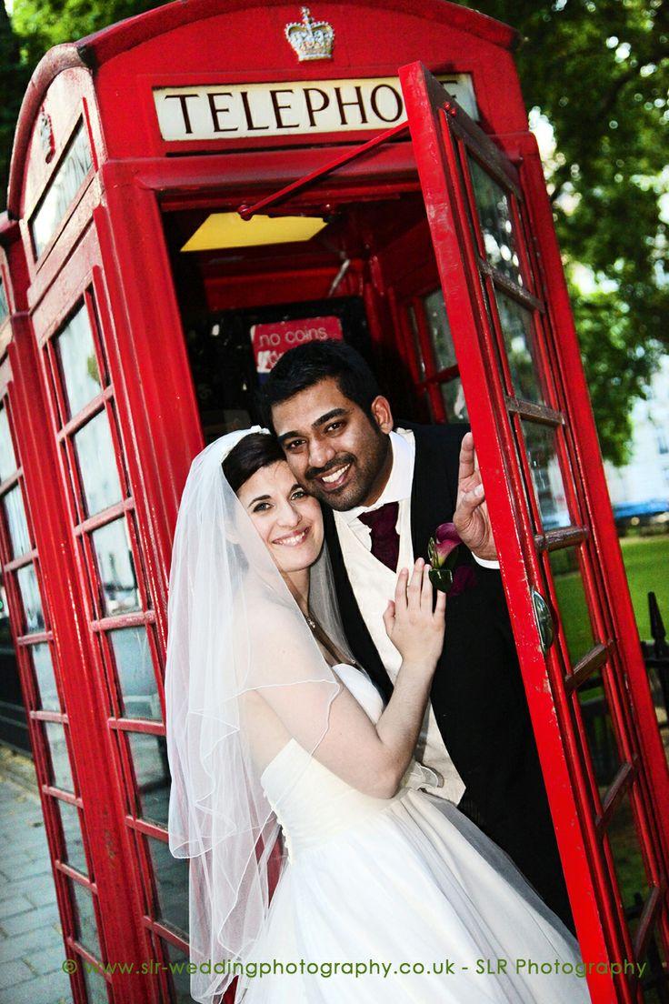 """""""London themed"""" wedding pose! © SLR Photography -  www.slr-weddingphotography.co.uk"""