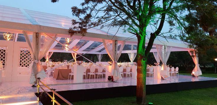 Glass Wedding Marquee Wedding Venue Wedding Decor White and gold wedding
