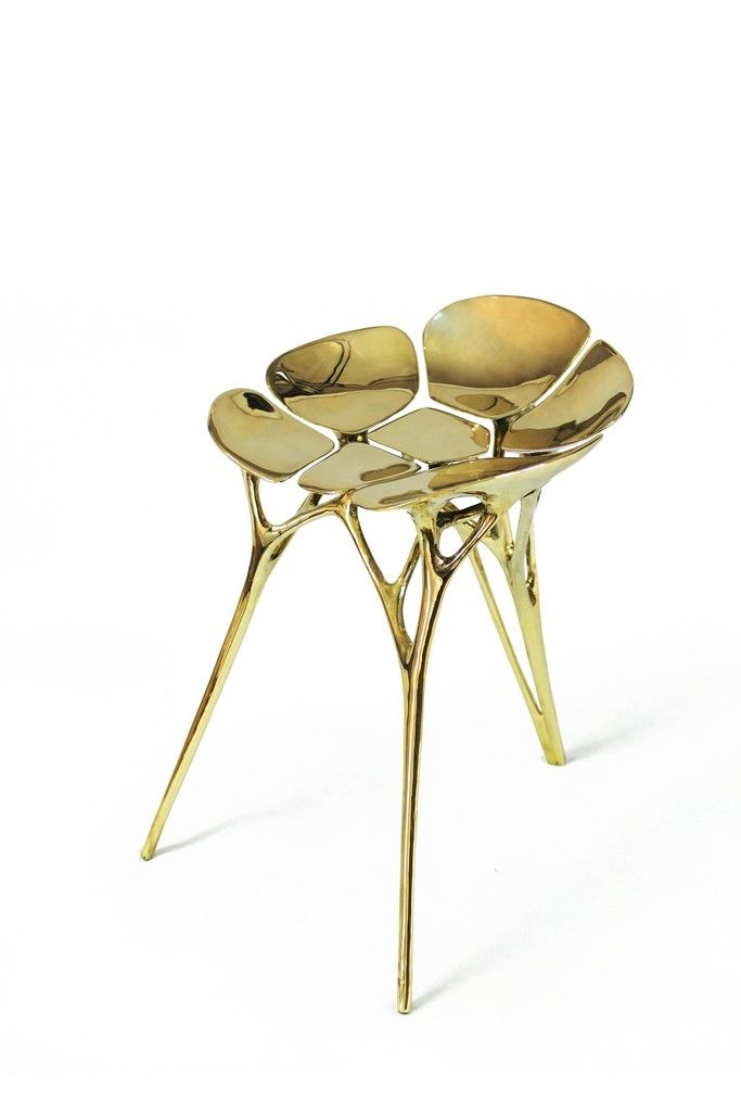 Available For Sale From Gallery ALL, Zhipeng Tan, Lotus Chair Brass, 65 ×  55 × 55 Cm