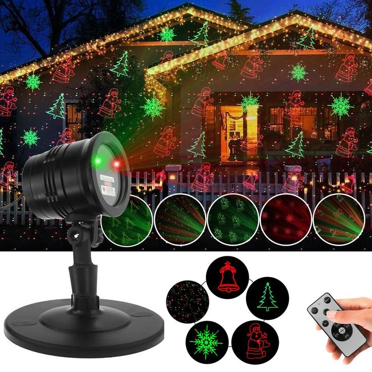 Festival Projector Lights LED Party Light Christmas Laser Light with 5 Lighting Patterns IP65 Waterproof Decoration Lamp Festival Decorations Laser Light with RF Wireless for Party Supplies
